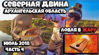 Рыбалка в жару на Северной Двине в июле, Архангельская область, Архангельская область, часть 4