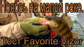 Рыбалка на малой реке - ноябрь. Тестим Favorite Vizor.